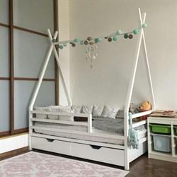 Кроватка Вигвам - с бортиками и ящиками - фото 5224