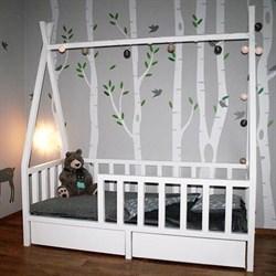 Кроватка Вигвам - с бортиками и ящиками - фото 5225