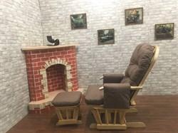 Кресло-качалка «Arsiel» с пуфом - фото 5306