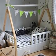 Кроватка Вигвам - с бортиками и ящиками