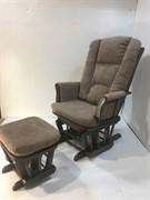 Кресло-качалка глайдер, с пуфом 1804/1805